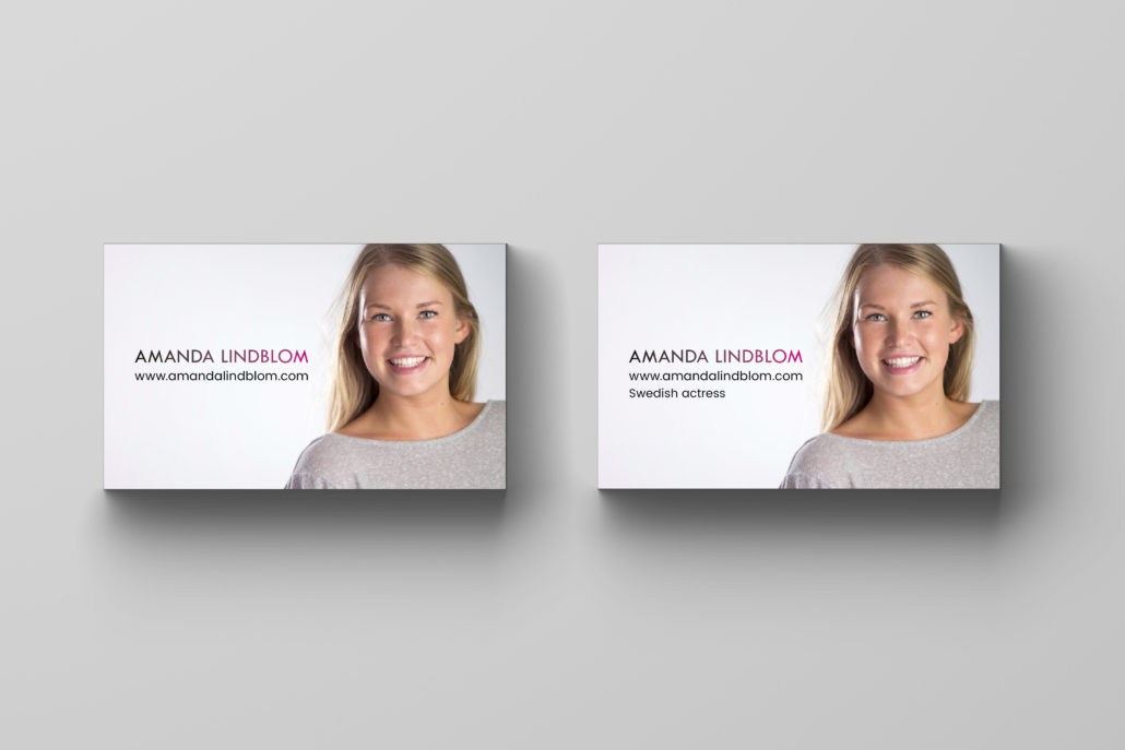 Amanda Lindblom visitkort framsida 3 Alexa Produktion