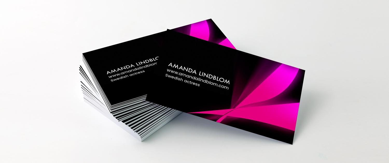 Amanda Lindblom Visitkort Alexa Produktion