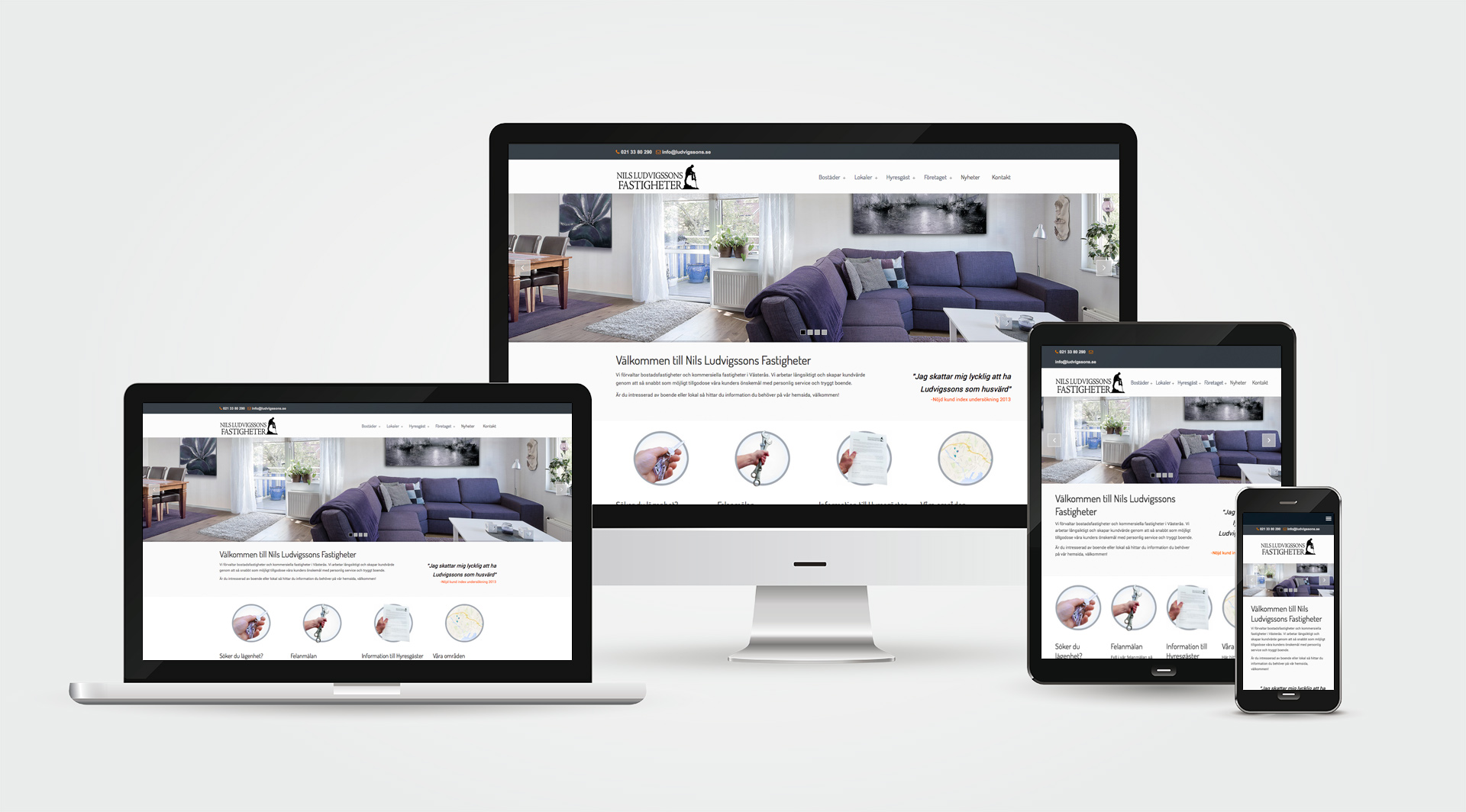 Ludvigssons hemsida Alexa Produktion