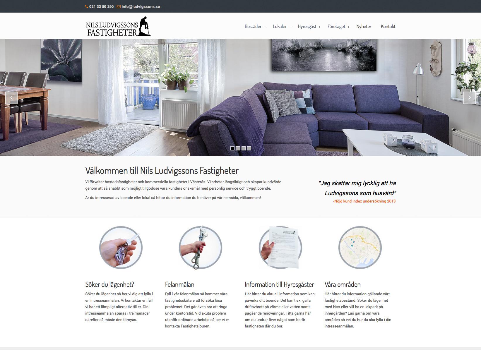 Ludvigssons hemsida startsida Alexa Produktion