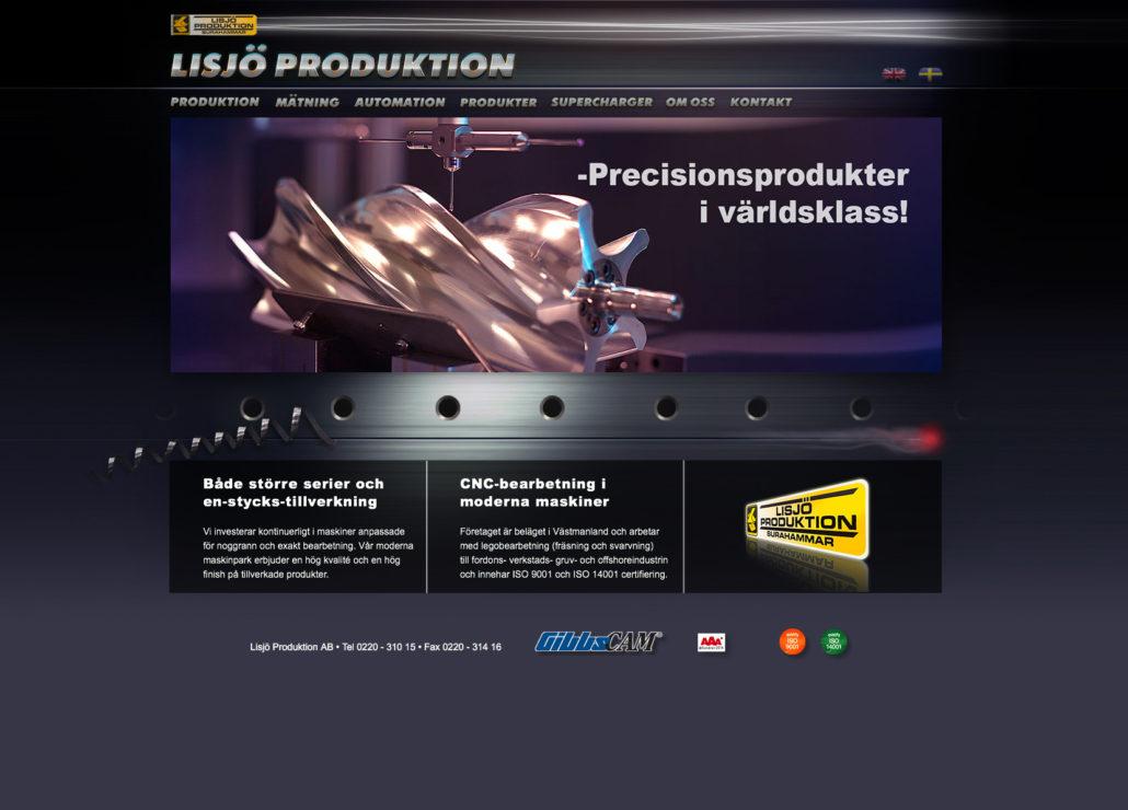 Lisjö Produktion hemsida Alexa Produktion