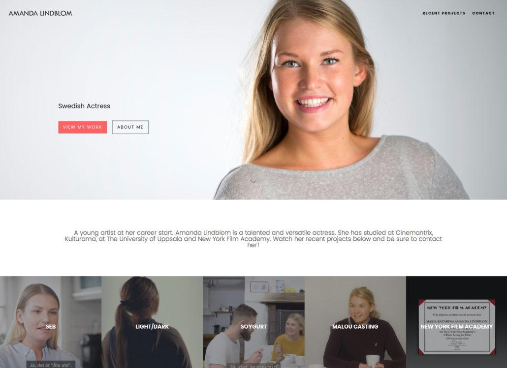 Amanda Lindblom hemsida Alexa Produktion