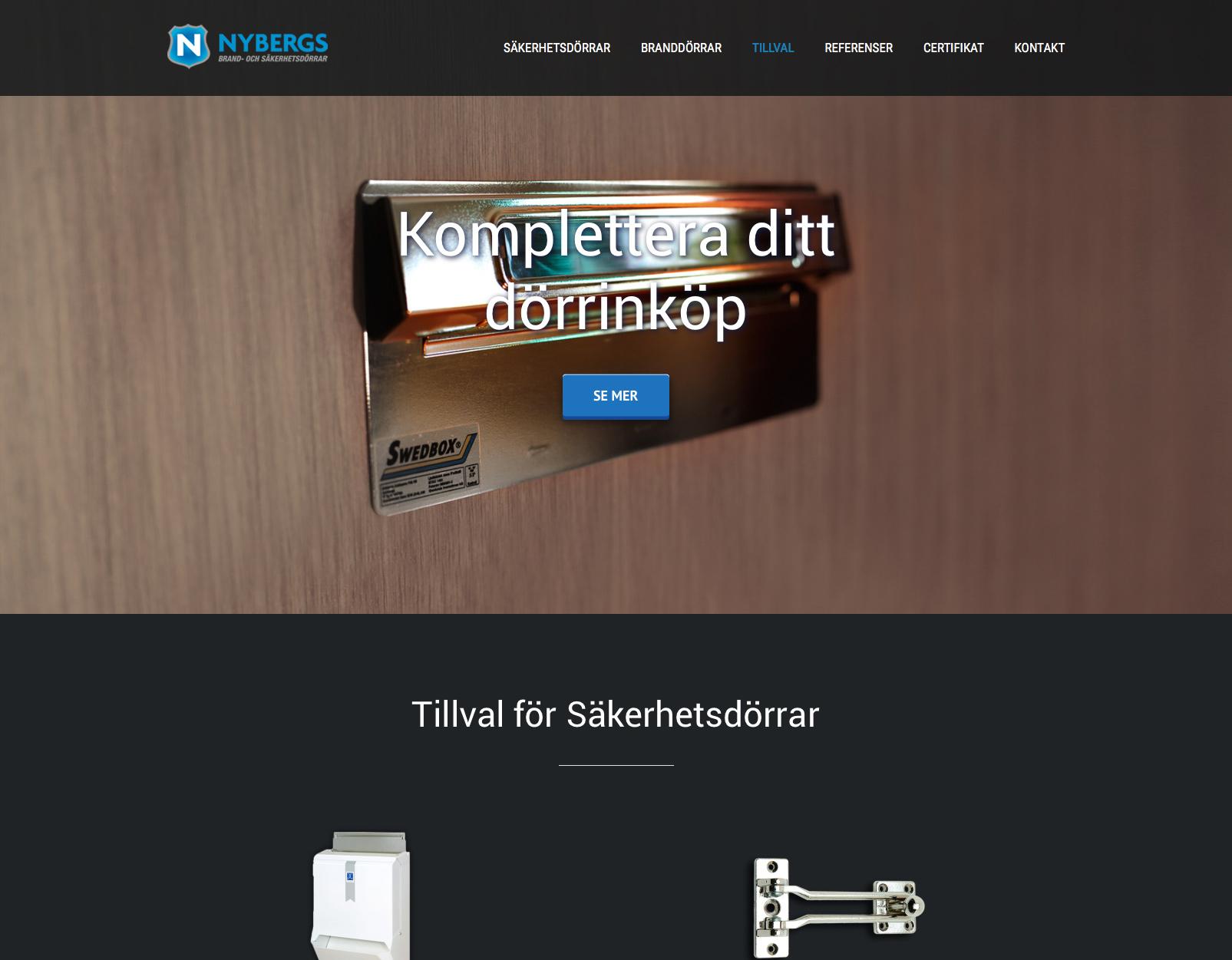 Nybergs hemsida komplettera ditt dörrinköp Alexa Produktion