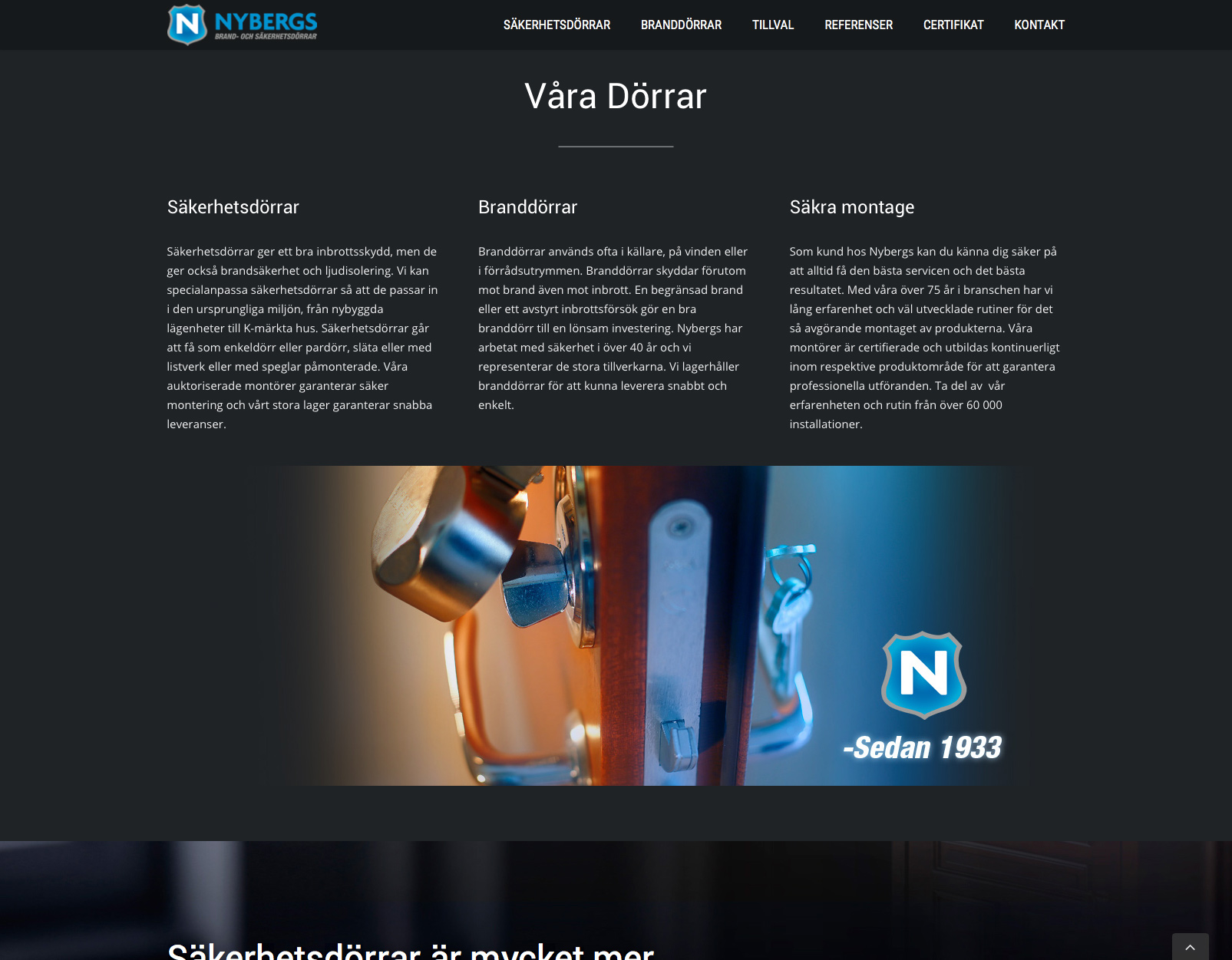 Nybergs hemsida Alexa Produktion