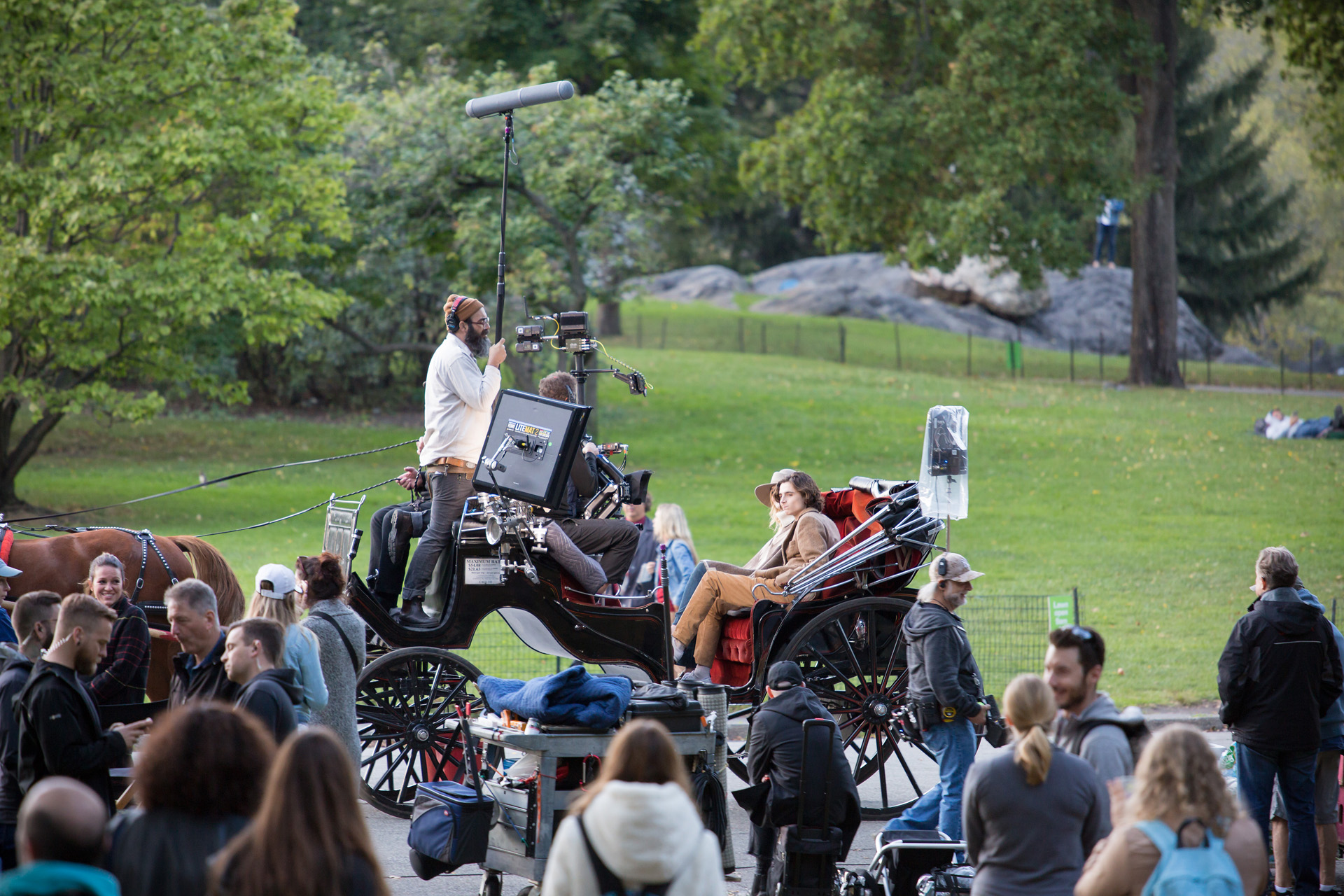 Central Park filminspelning Oktober 2017 New York Alexa Produktion