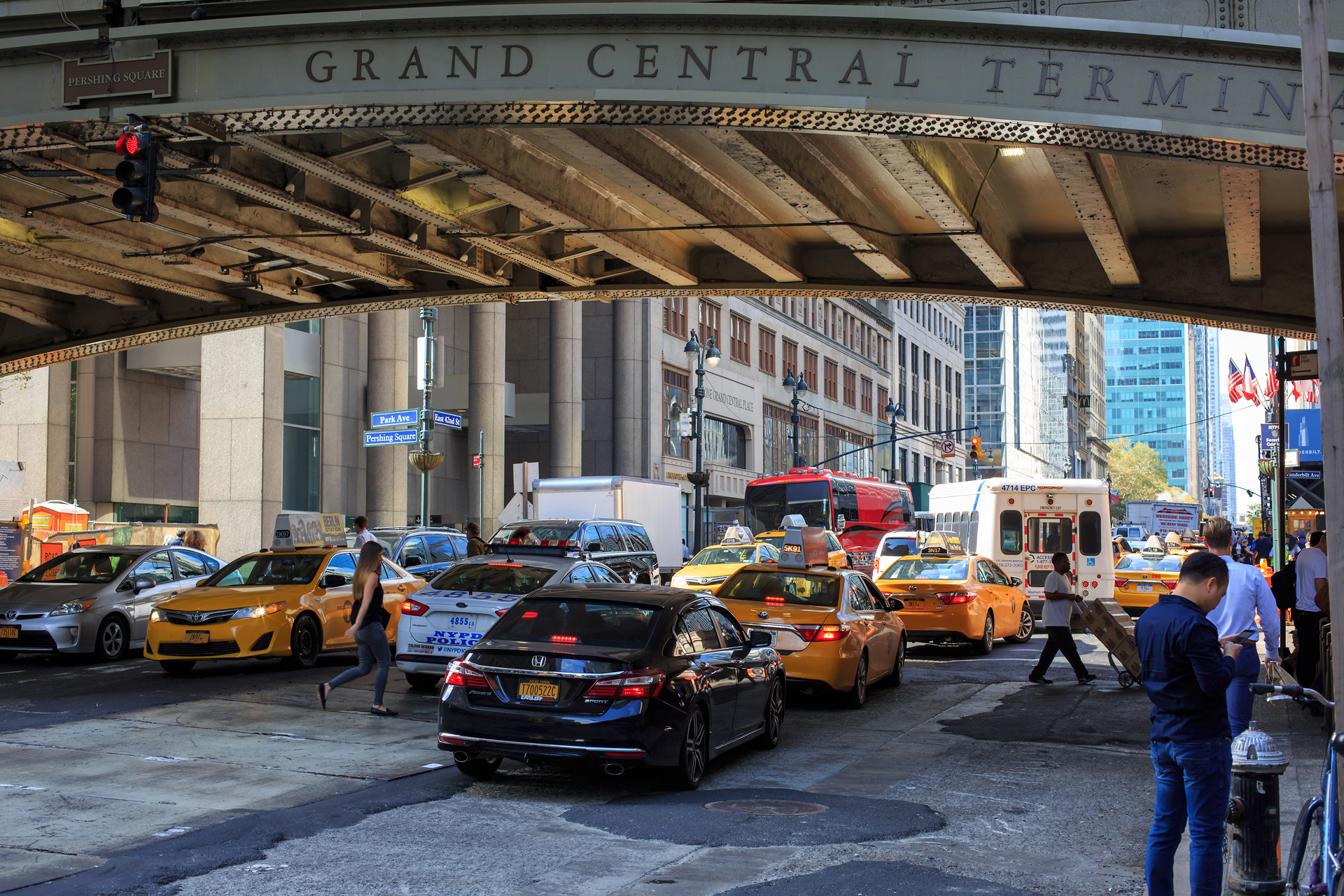 Utanför Grand Central Terminal New York Alexa Produktion