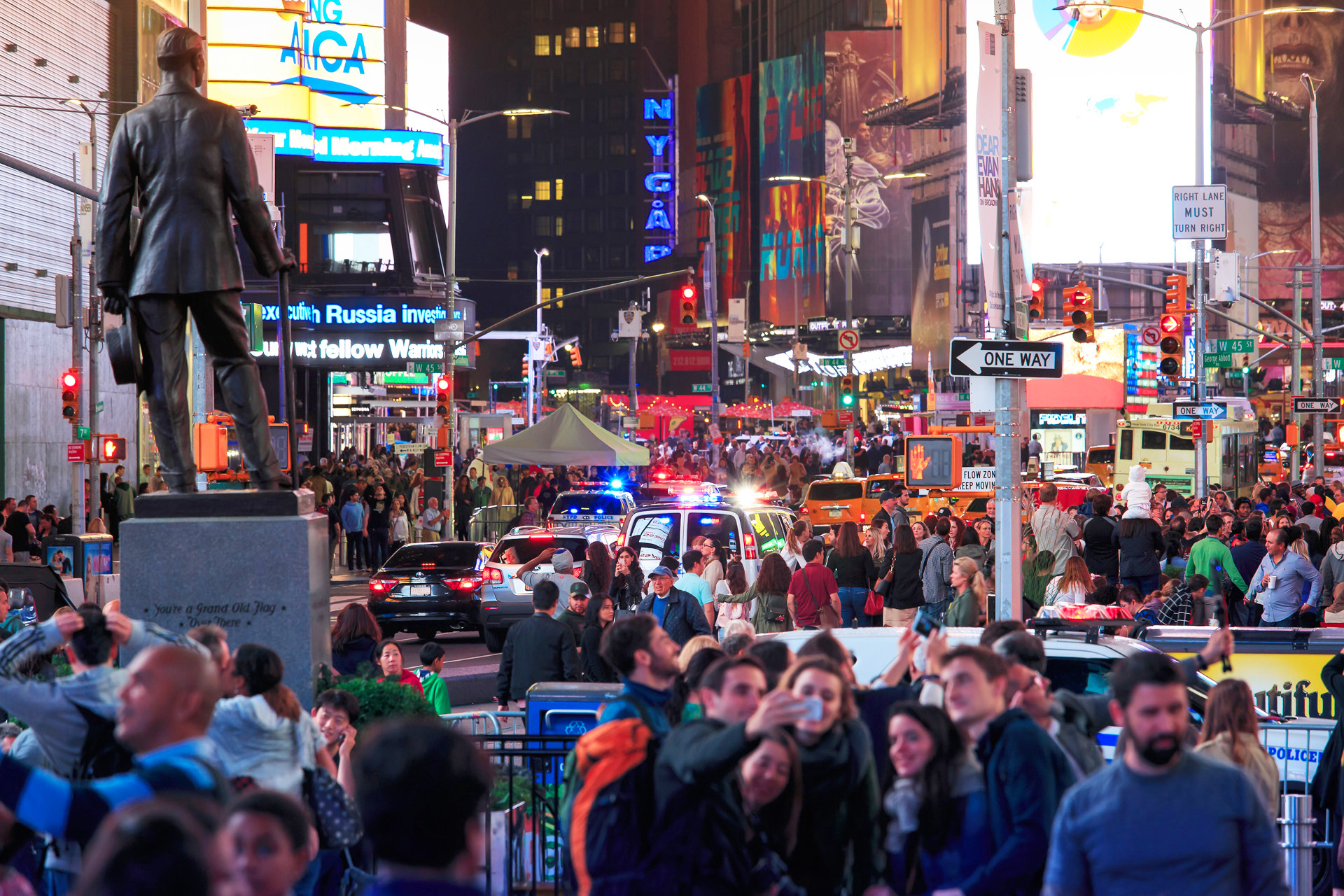 Times Square mycket folk New York Alexa Produktion