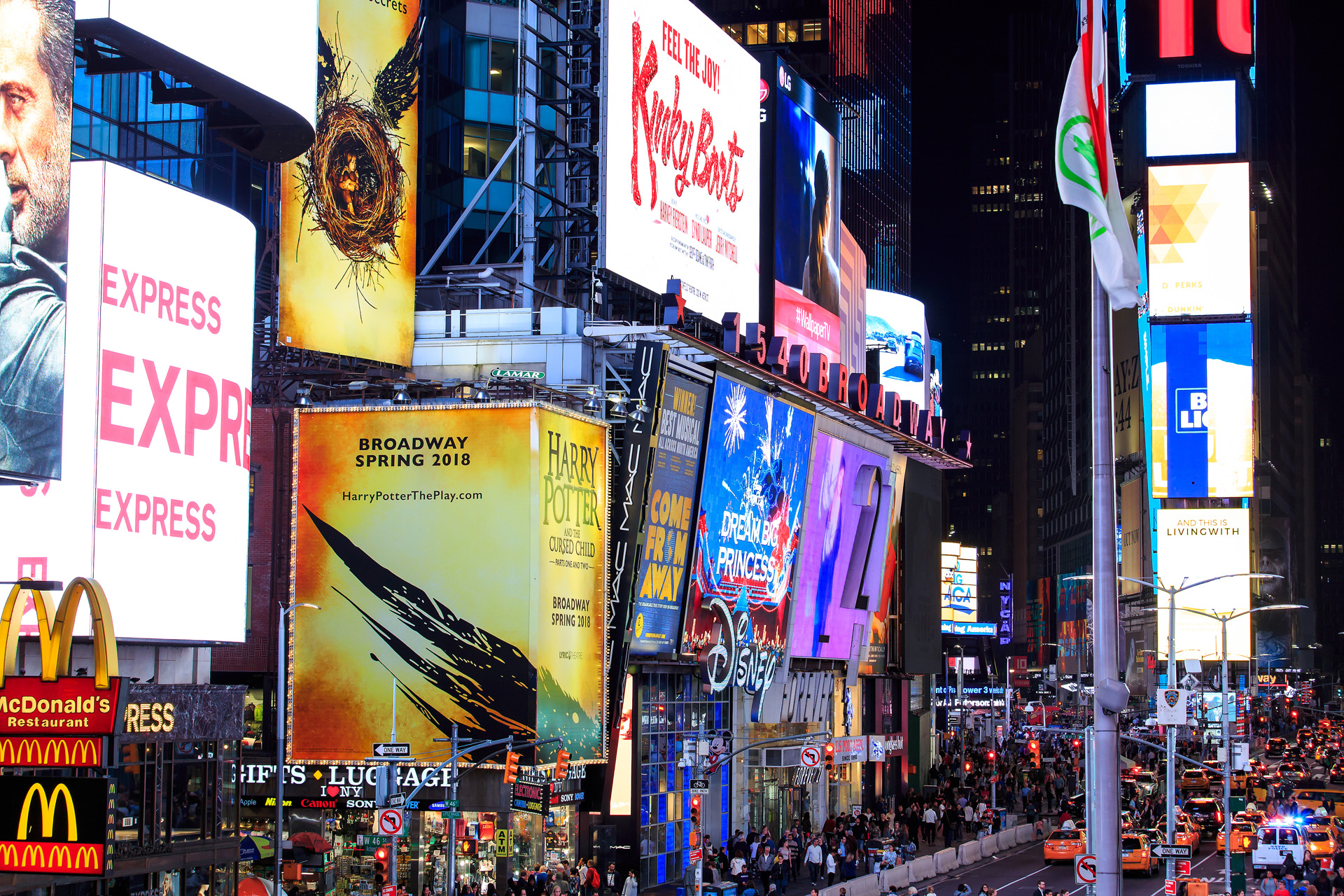 Times Square New York Alexa Produktion
