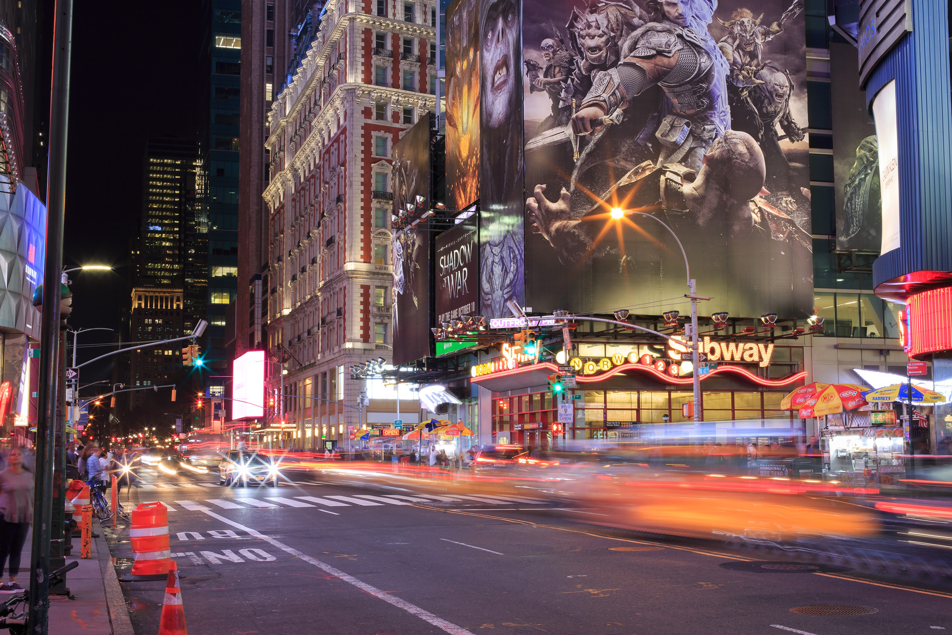 Times Square och Subway New York Alexa Produktion